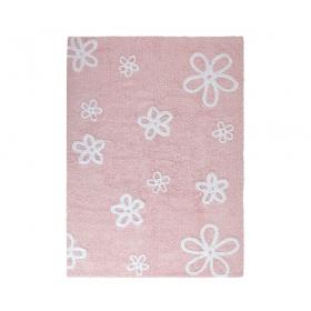 tapis enfant flores rose lorena canals