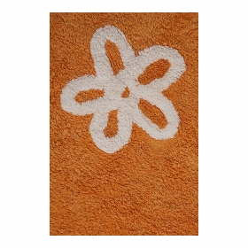 tapis enfant flores orange lorena canals