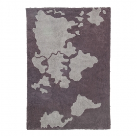 tapis enfant world map gris lorena canals