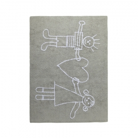 tapis enfant solidaria gris lorena canals