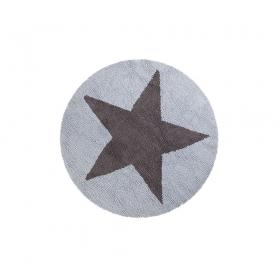 tapis enfant reversible round etoile bleue lorena canals