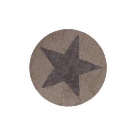 tapis enfant reversible round etoile marron lorena canals