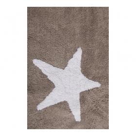 tapis enfant estrellas tricolor marron lorena canals