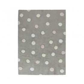 tapis enfant topos tricolor gris et rose lorena canals