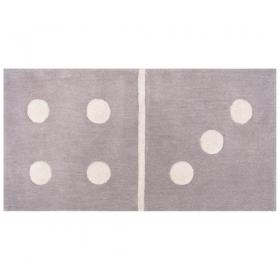 tapis enfant gris domino 4/3 1 pied sur terre