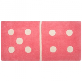 tapis enfant rose domino 4/5 1 pied sur terre