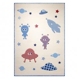 tapis blanc esprit home little astronauts