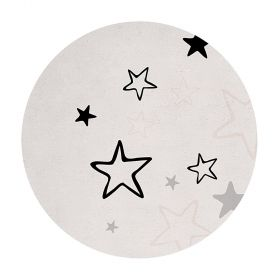 tapis enfant dreamy girl gris et rose lilipinso