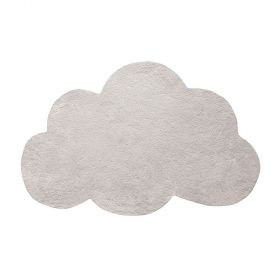 tapis enfant nuage sylver birch beige/gris clair lilipinso