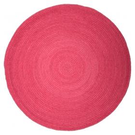 tapis rond rose enfant halo 1 pied sur terre