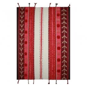 tapis enfant laine khema rose 1 pied sur terre
