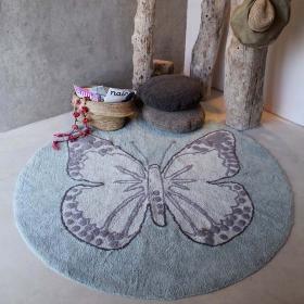 tapis enfant butterfly vintage gris/ vert lorena canals