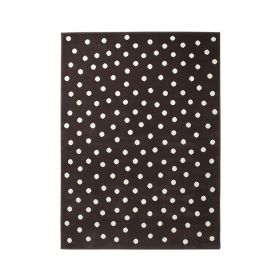 tapis enfant dot marron et blanc lorena canals
