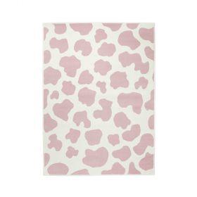 tapis enfant vaca rose motif vache lorena canals