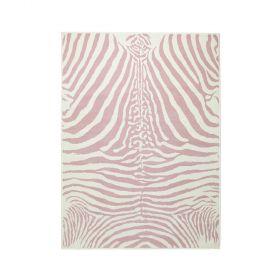 tapis enfant zebra rose motif zèbre lorena canals