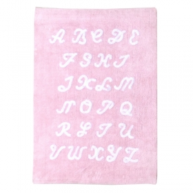 tapis enfant abc rose lorena canals