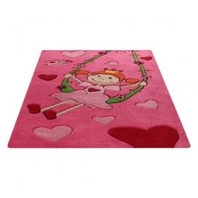 tapis enfant pinky queeny rose sigikid