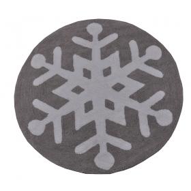 tapis enfant snowflake gris et blanc lorena canals