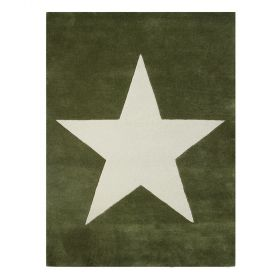tapis enfant en laine star vert lorena canals