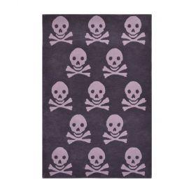 tapis enfant en laine skull anthracite lorena canals