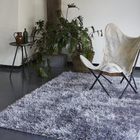 tapis cool glamour shaggy gris esprit home