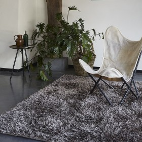 tapis shaggy bronze cool glamour esprit home