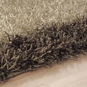 tapis marron cool glamour shaggy esprit home