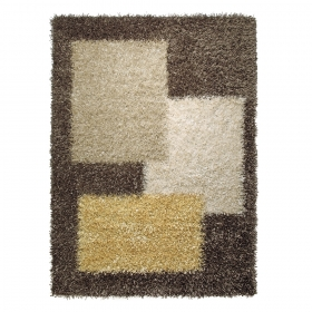 tapis shaggy marron esprit home cool glamour