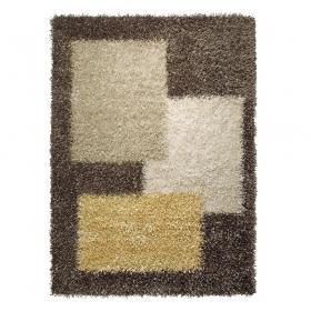 tapis marron shaggy cool glamour esprit home