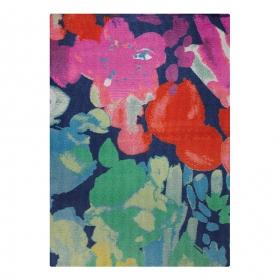 tapis spring flower esprit home bleu multicolore