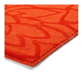 tapis de bain esprit home flower shower orange