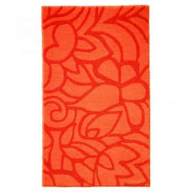 tapis de bain flower shower orange esprit home