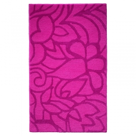 tapis de bain flower shower esprit home rose