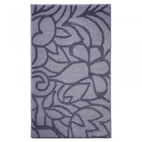 tapis de bain esprit home flower shower gris