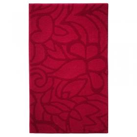 tapis de bain flower shower rouge esprit home