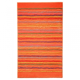 tapis de bain cool stripes orange esprit home