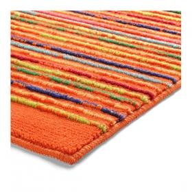 tapis de bain esprit home cool stripes orange