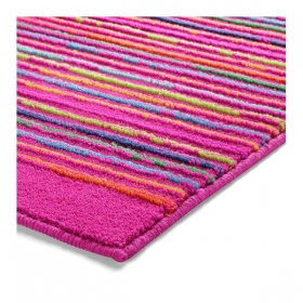 tapis de bain esprit home cool stripes rose