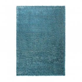 tapis shaggy bleu esprit home cosy glamour