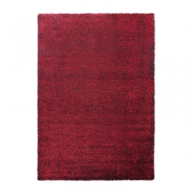 tapis shaggy cosy glamour rouge esprit home