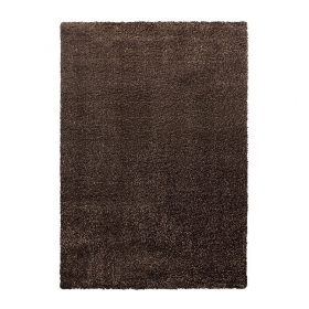 tapis cosy glamour shaggy marron esprit home
