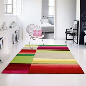 tapis block pattern multicolore - esprit home