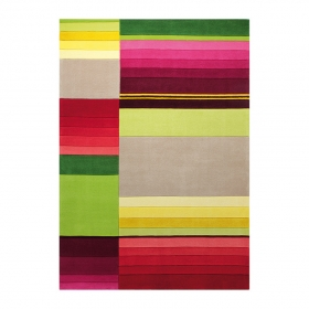 tapis carré multicolore esprit home block pattern
