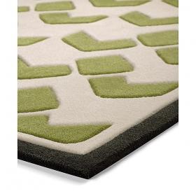 tapis bauhaus moderne vert esprit home