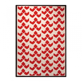 tapis moderne orange esprit home bauhaus