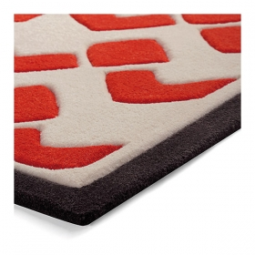 tapis bauhaus orange esprit home moderne