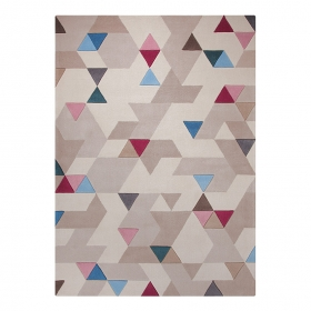 tapis carré imagination beige esprit home
