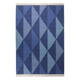 tapis natural triangular bleu esprit home