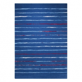 tapis bleu esprit home joyful stripes