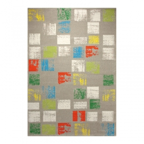 tapis cuadros taupe esprit home